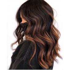 Сложное окрашивание на тёмные волосы